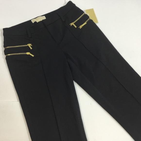 MICHAEL Michael Kors Pants - Michael Kors Black Zipper Pants Size 2P NWT